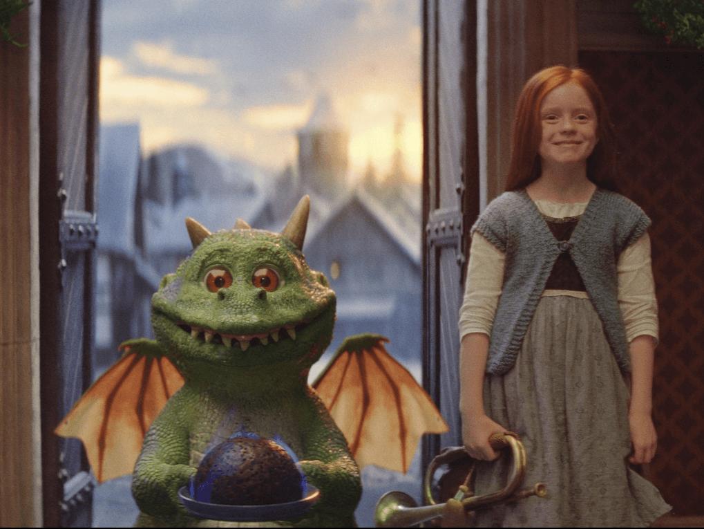 still from the John lewis advert 'Edgar the Dragon'
