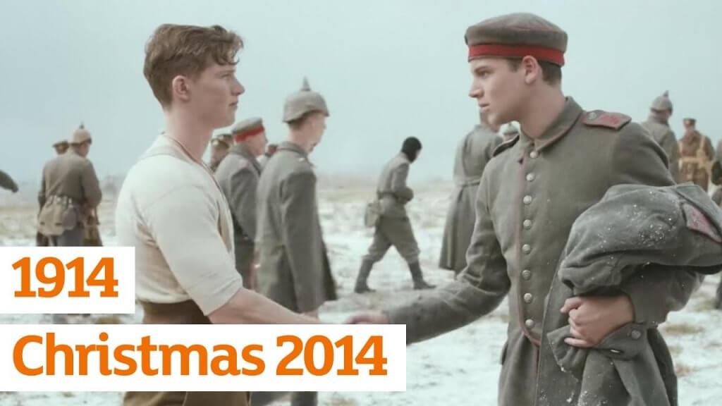 still from the sainsbury's 2014 christmas advert '1914'